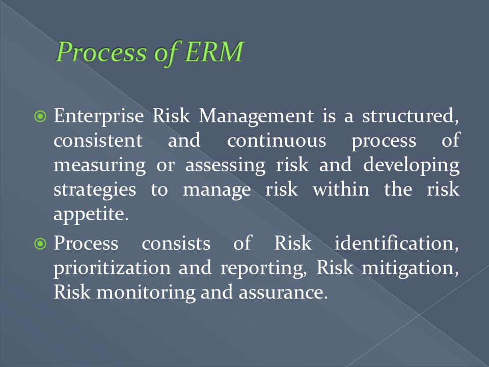 Process of ERM