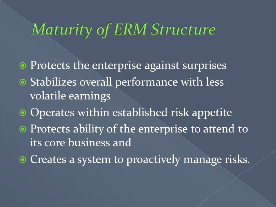 Maturity of ERM Structure