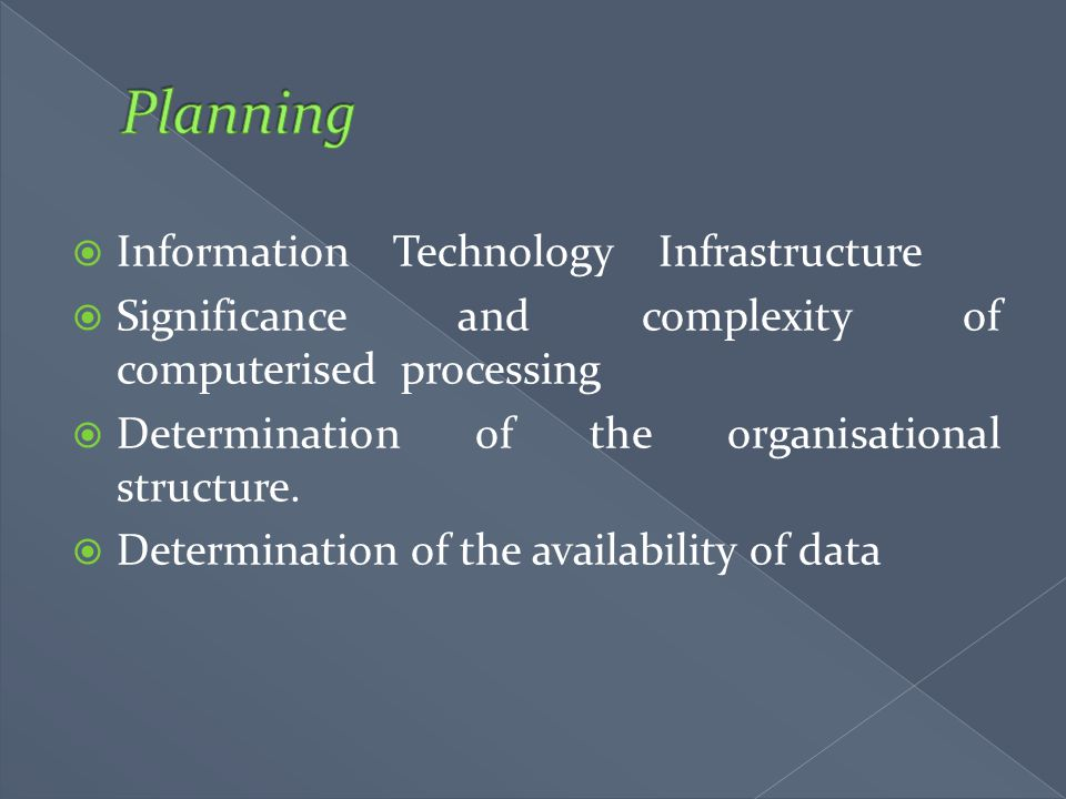Planning Information Technology Infrastructure