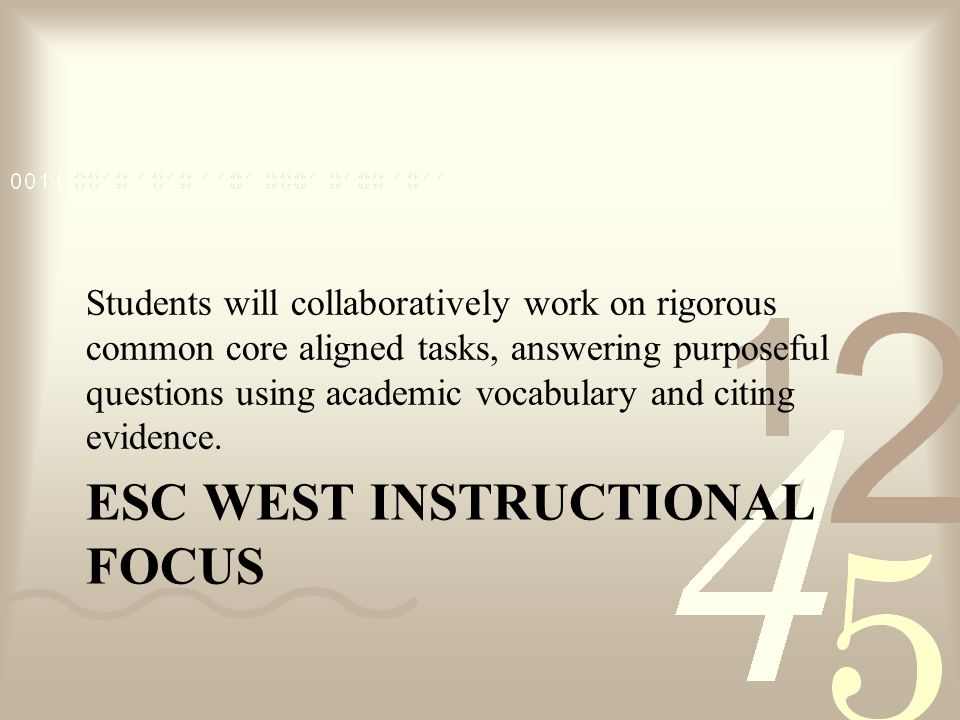 ESC West Instructional Focus