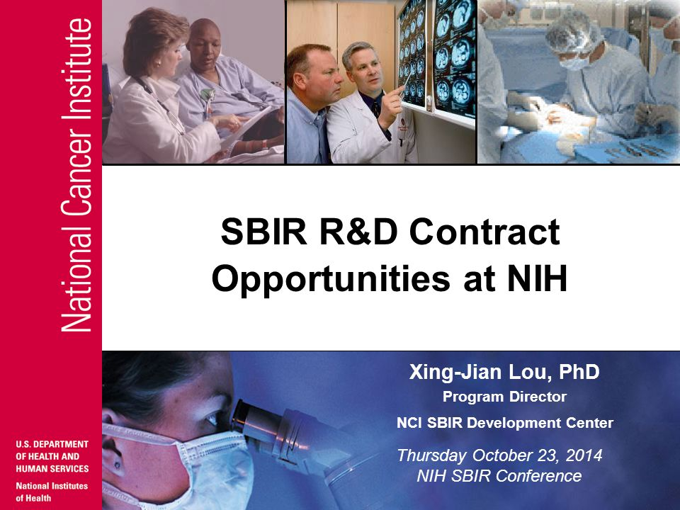 SBIR R&D Contract Opportunities at NIH