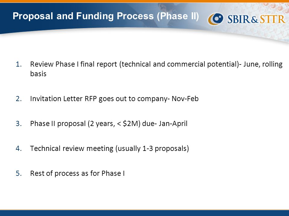 Proposal and Funding Process (Phase II)
