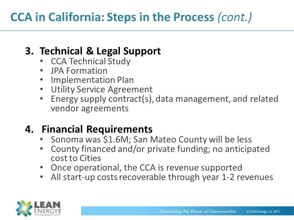 CCA in California: Steps in the Process (cont.)