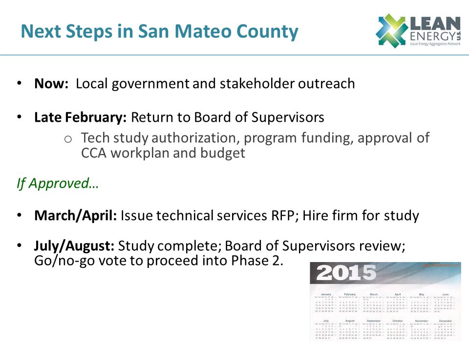 Next Steps in San Mateo County