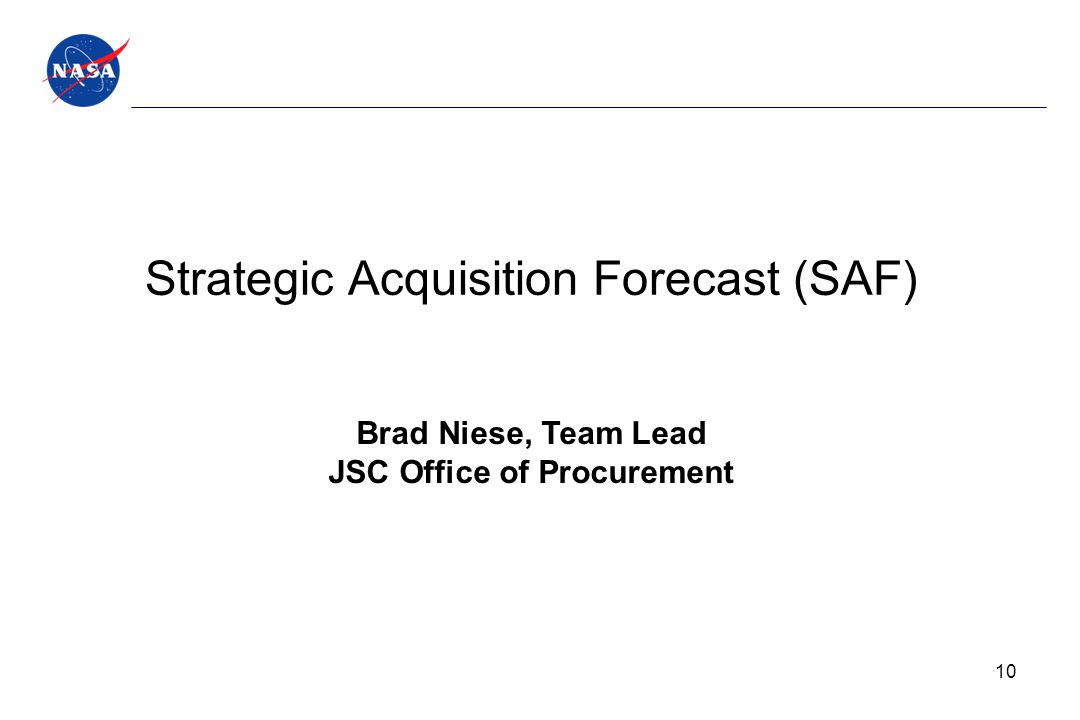 Strategic Acquisition Forecast (SAF)