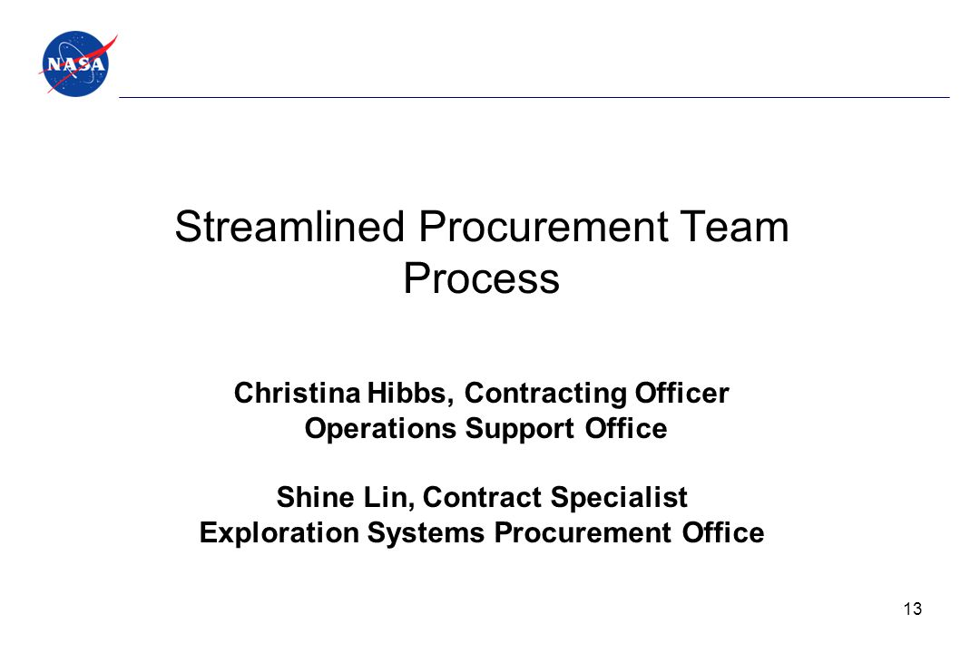 Streamlined Procurement Team Process