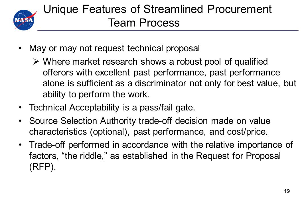 Unique Features of Streamlined Procurement Team Process