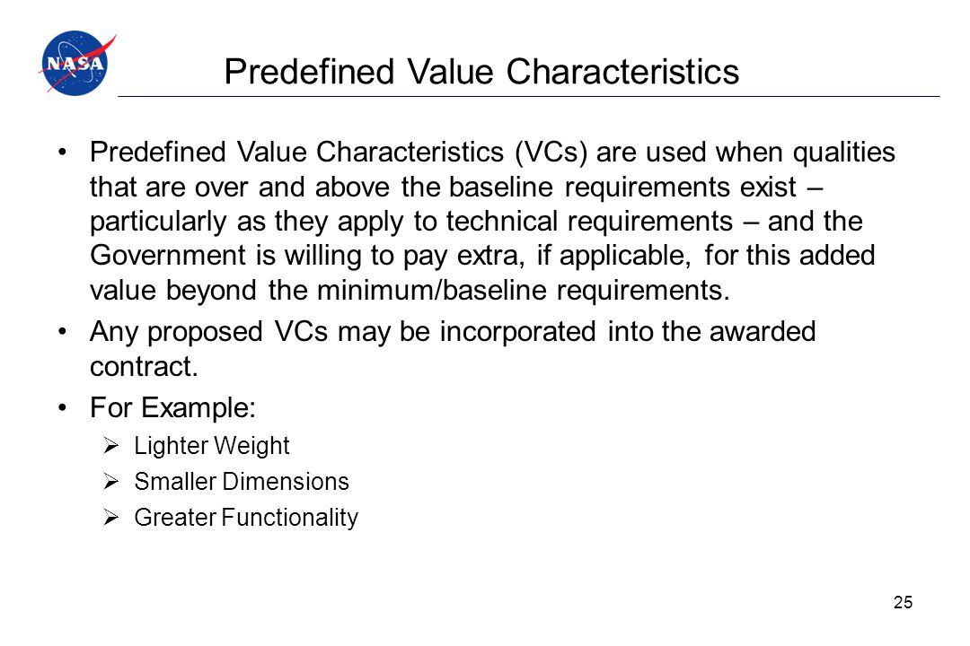 Predefined Value Characteristics