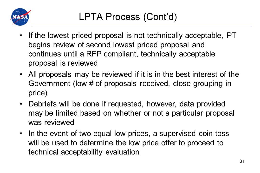 LPTA Process (Cont'd)