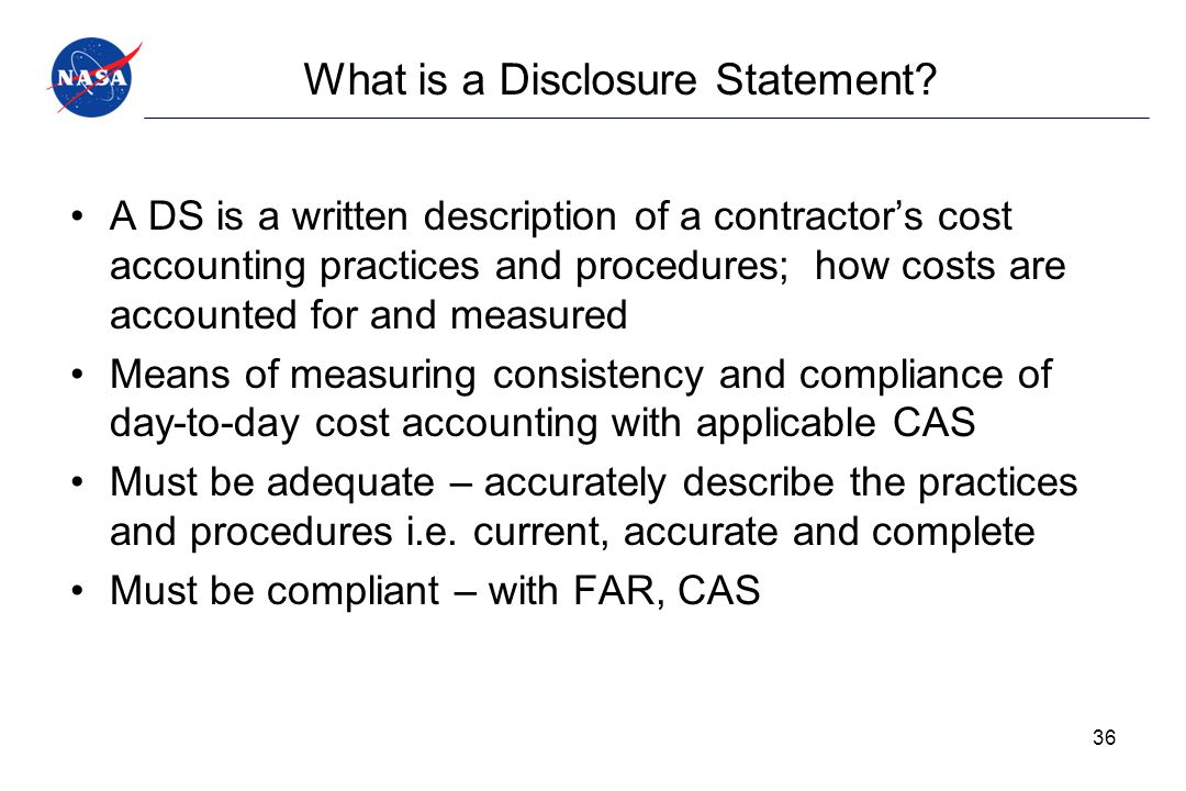 What is a Disclosure Statement