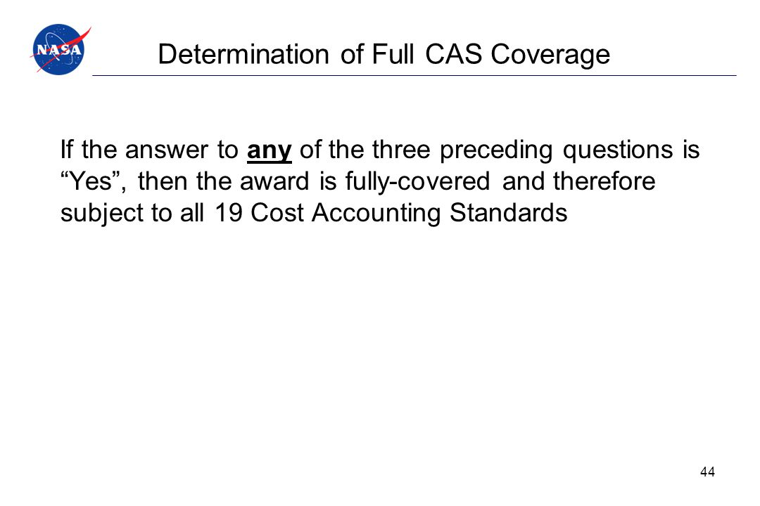 Determination of Full CAS Coverage