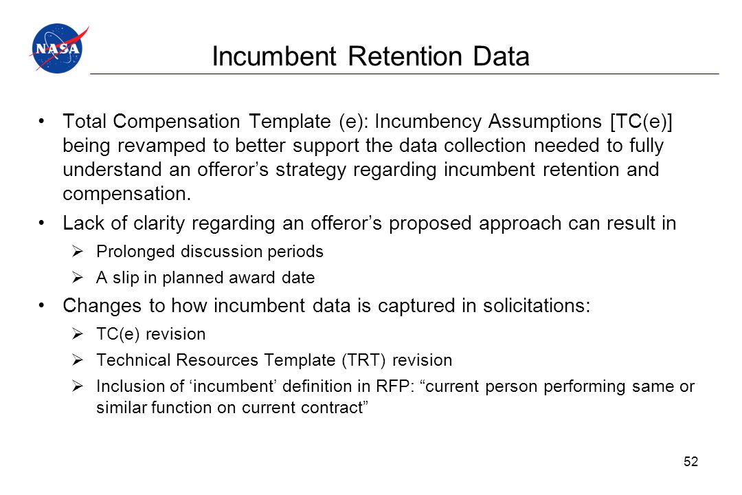 Incumbent Retention Data