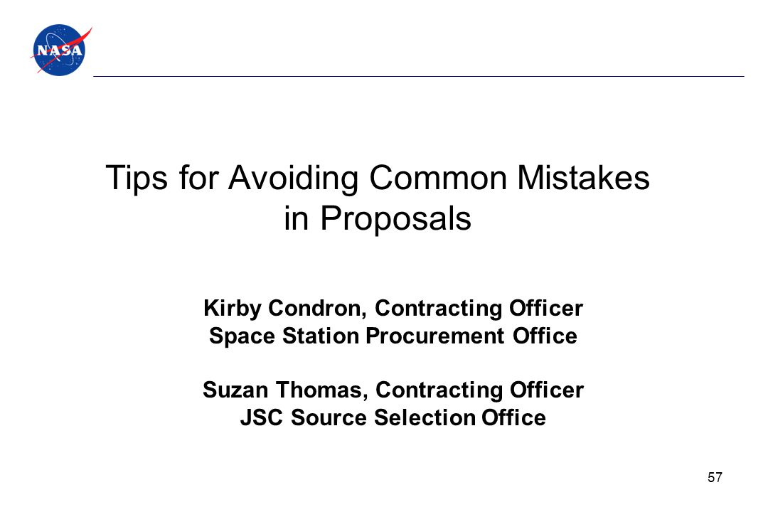 Tips for Avoiding Common Mistakes in Proposals