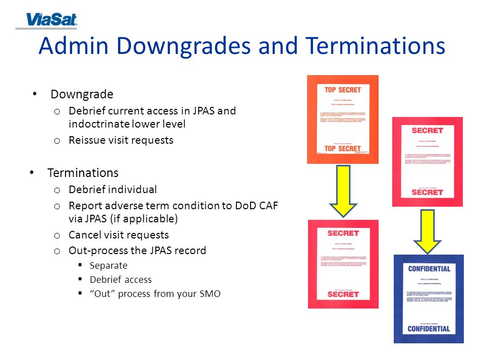 Admin Downgrades and Terminations