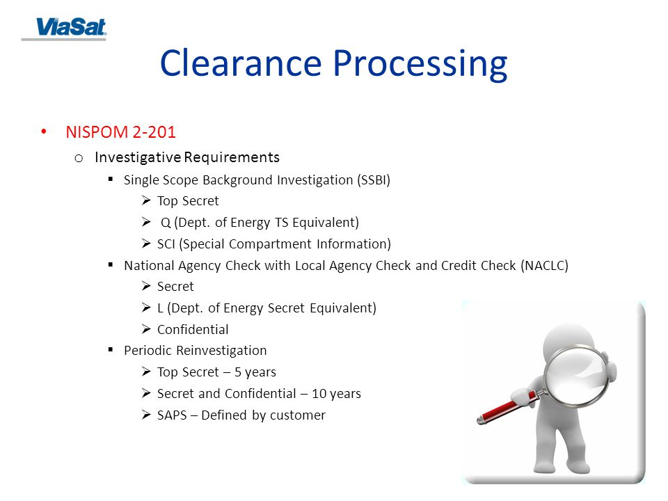 Clearance Processing NISPOM 2-201 Investigative Requirements