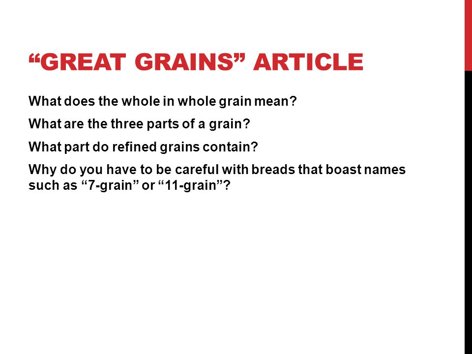 Great Grains Article