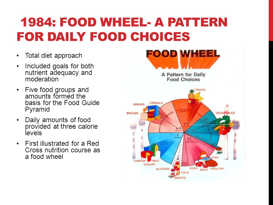 1984: Food Wheel- A Pattern for Daily Food Choices