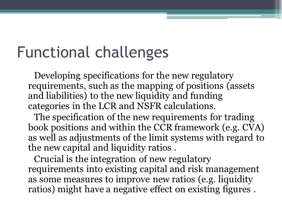 Functional challenges