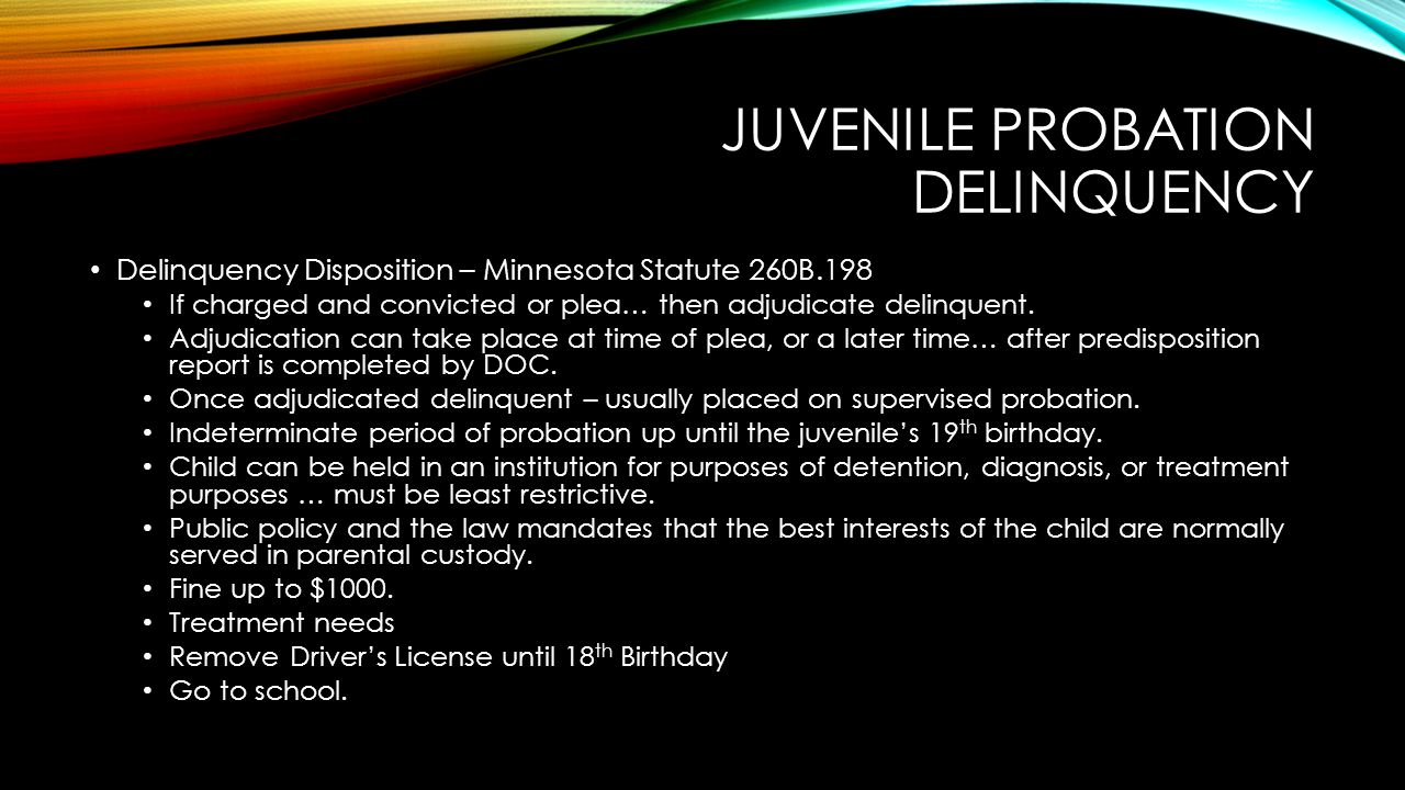Juvenile probation delinquency