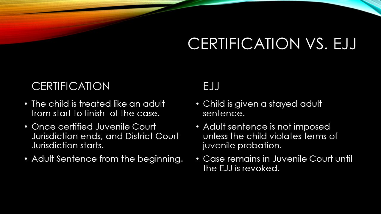 Certification vs. ejj CERTIFICATION EJJ
