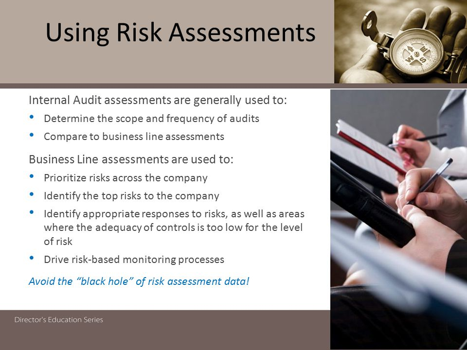 Using Risk Assessments