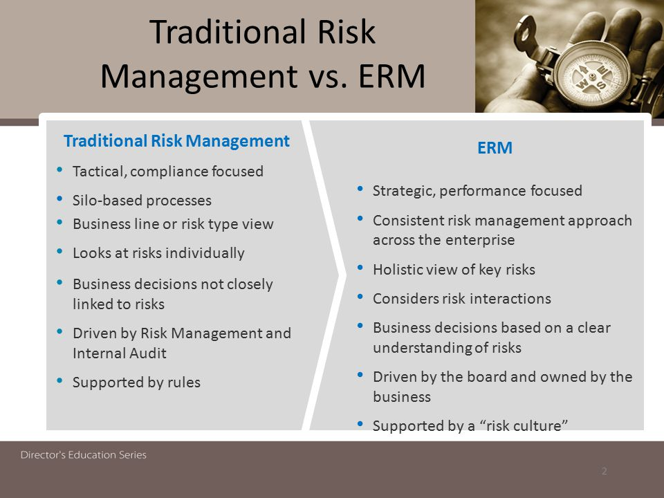 Traditional Risk Management vs. ERM