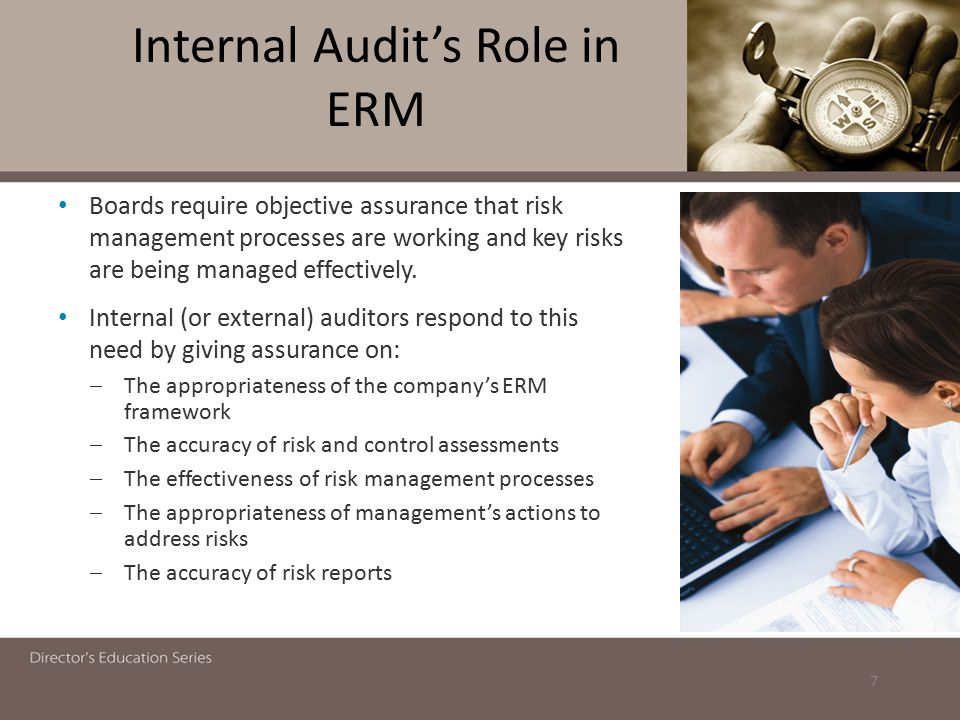 Internal Audit's Role in ERM