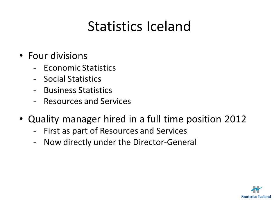 Statistics Iceland Four divisions