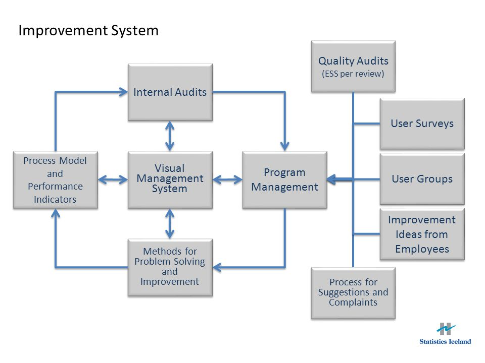 Improvement System Quality Audits Internal Audits User Surveys