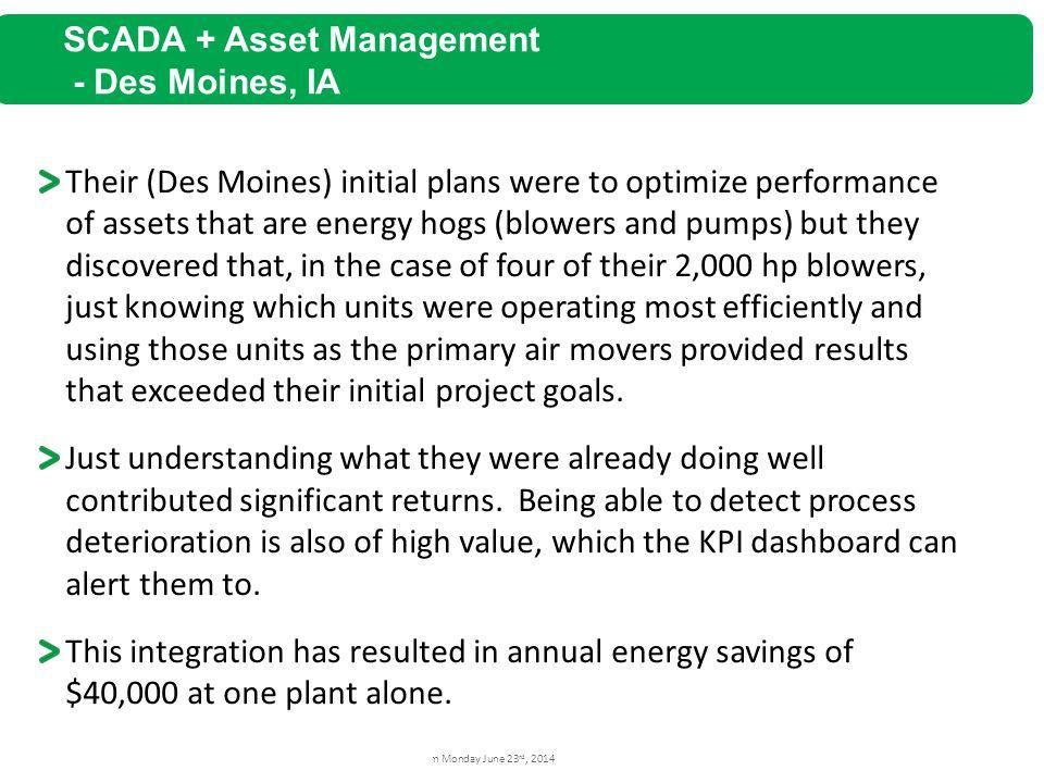 SCADA + Asset Management - Des Moines, IA