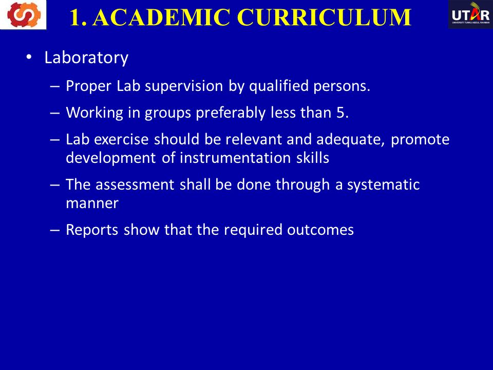 1. ACADEMIC CURRICULUM Laboratory