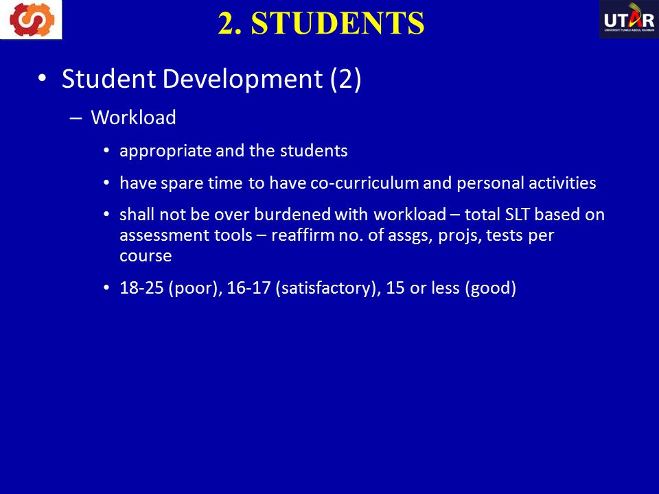2. STUDENTS Student Development (2) Workload