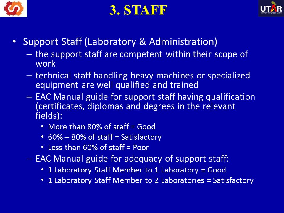 3. STAFF Support Staff (Laboratory & Administration)