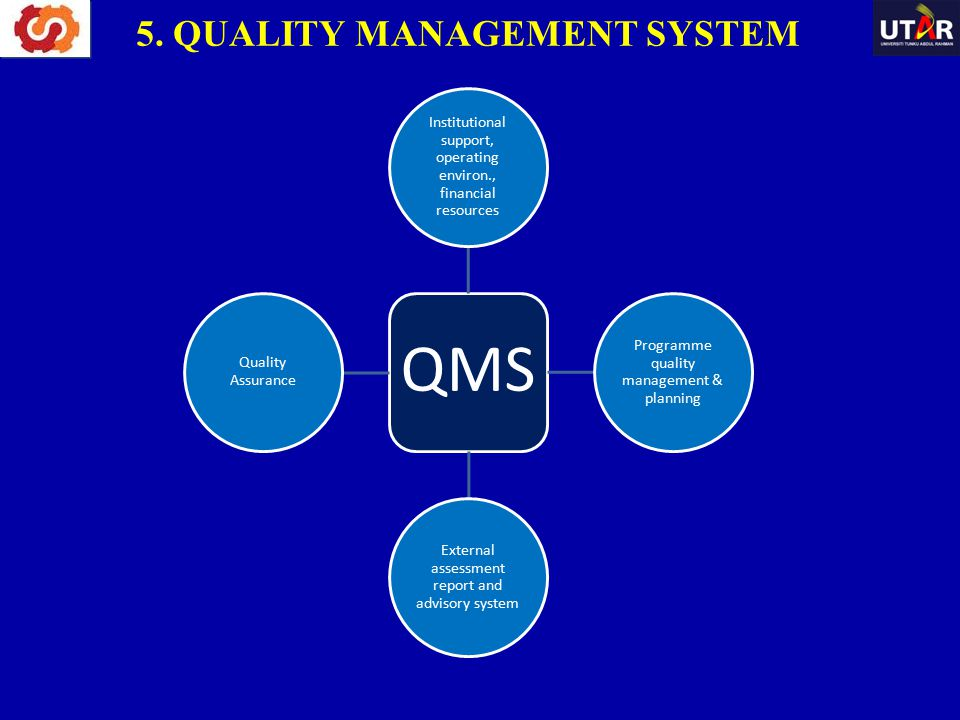 5. QUALITY MANAGEMENT SYSTEM