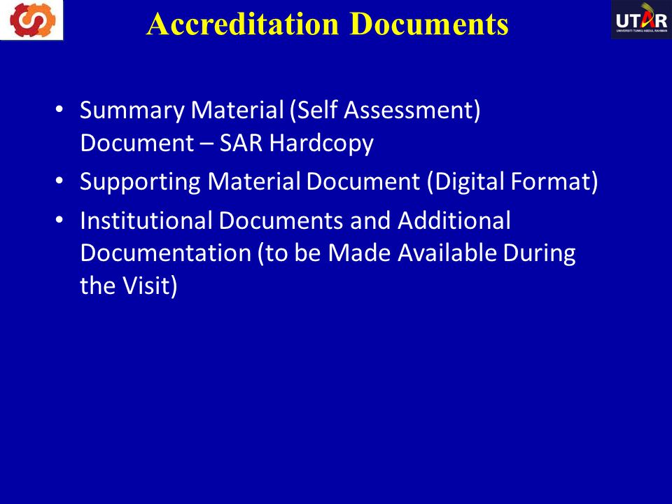 Accreditation Documents
