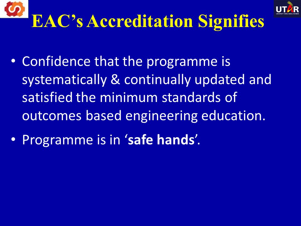 EAC's Accreditation Signifies