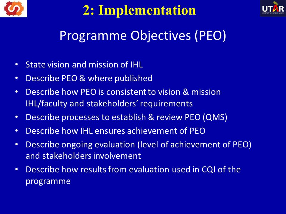 Programme Objectives (PEO)