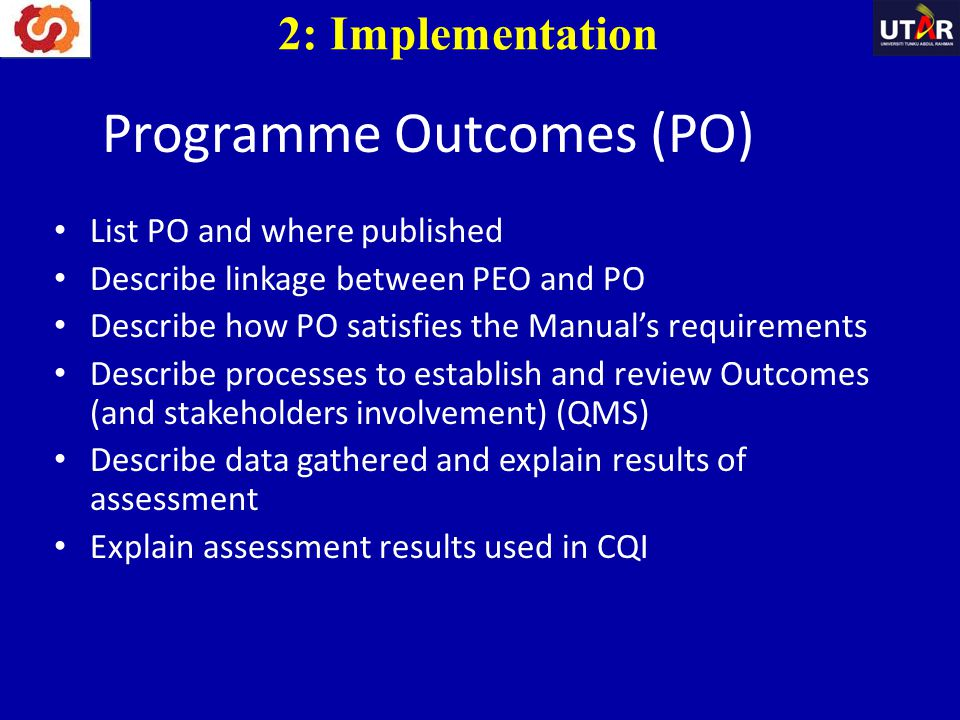 Programme Outcomes (PO)