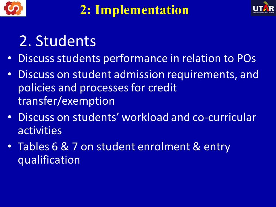2. Students 2: Implementation