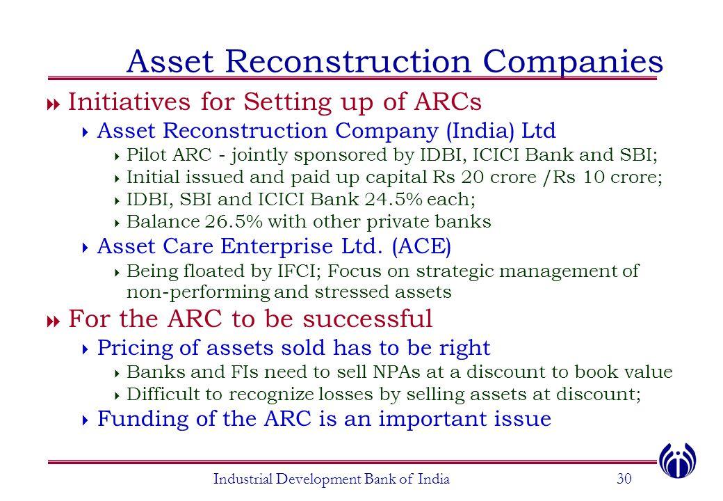 Asset Reconstruction Companies