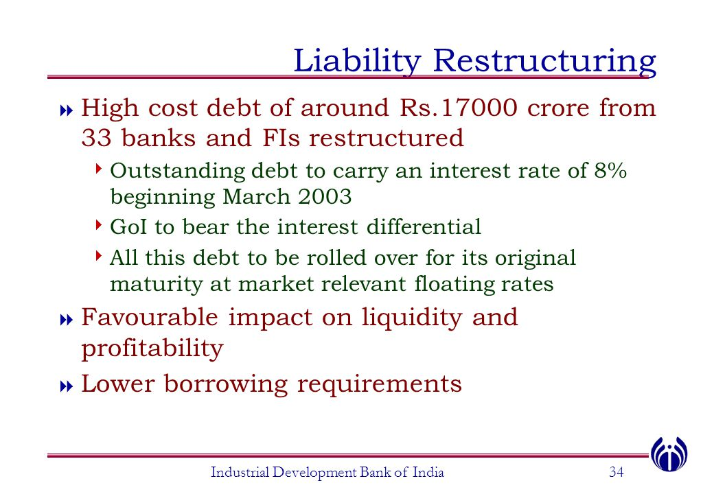 Liability Restructuring