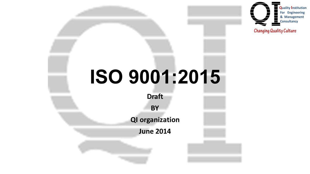 Draft BY QI organization June 2014