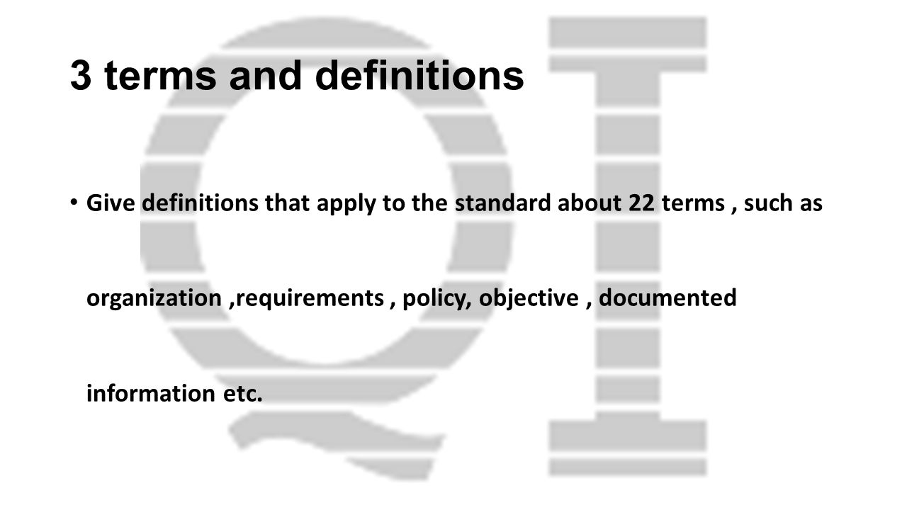 3 terms and definitions