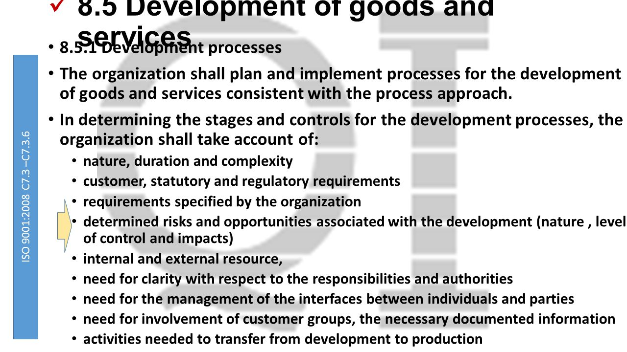 8.5 Development of goods and services