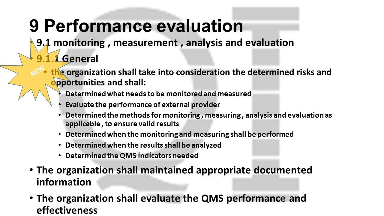 9 Performance evaluation