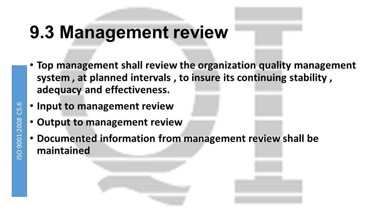 9.3 Management review