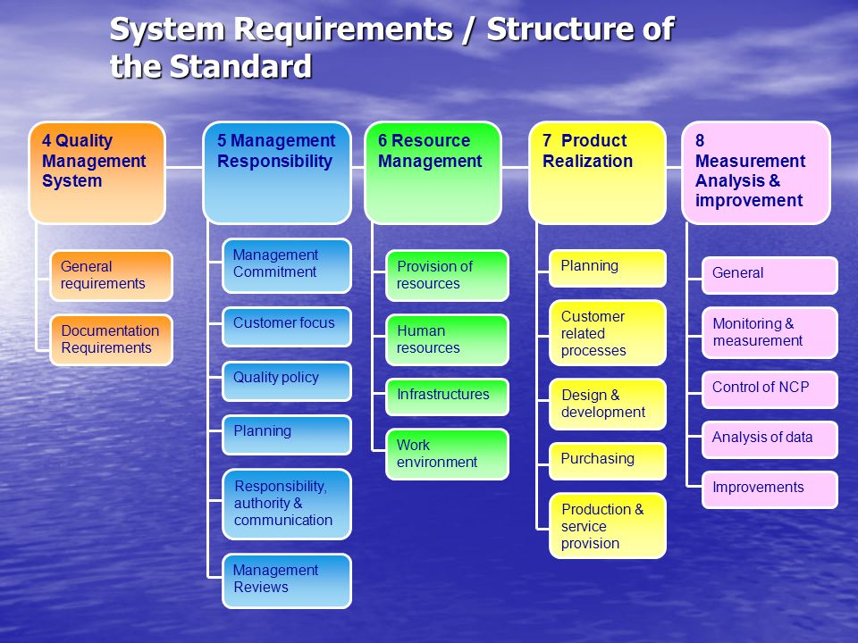 System Requirements / Structure of the Standard