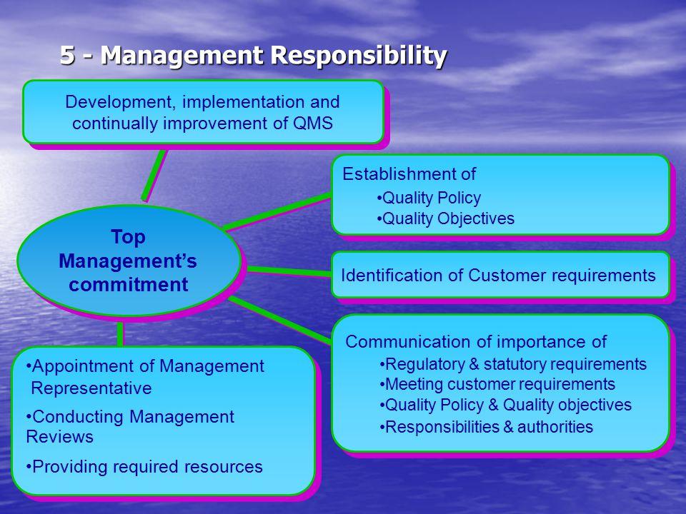 5 - Management Responsibility