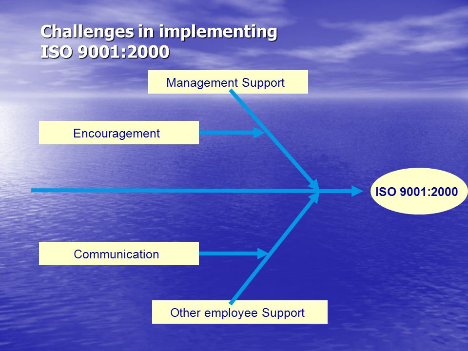 Challenges in implementing ISO 9001:2000