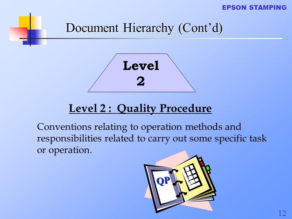 Document Hierarchy (Cont'd)